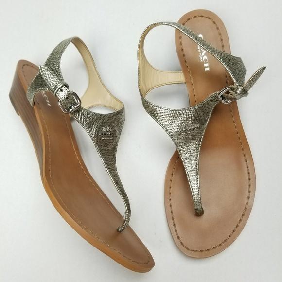 1730a0190f2b Coach Shoes - Coach Vitalia Thong Leather Sandals Sz 8.5